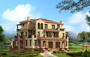 800平古典風格尖頂房屋外觀效果圖