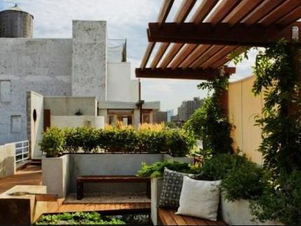 160平米復式二樓陽臺花園裝修效果圖