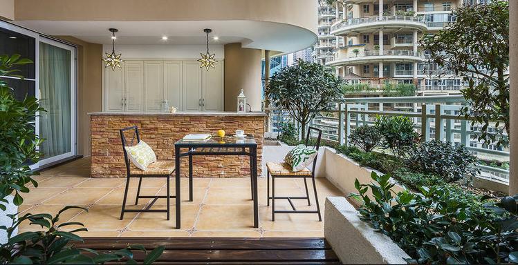 70平米房子復式二樓陽臺花園裝修效果圖