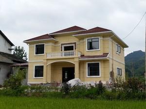 350平欧式风格斜顶房屋设计效果图