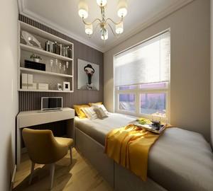 118平三居室現代美式風格房屋壁紙裝修效果圖