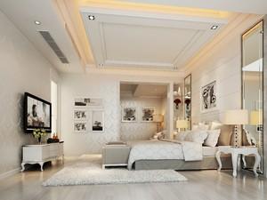 120平三居室欧式轻奢风格房屋壁纸betway必威体育app官网效果图