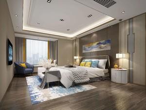 130平大戶型新中式風格房屋壁紙裝修效果圖