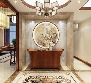 160平米大戶型別墅簡單中式玄關裝修效果圖