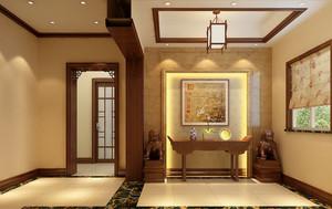 15萬元以內農村大戶型別墅中式玄關裝修效果圖
