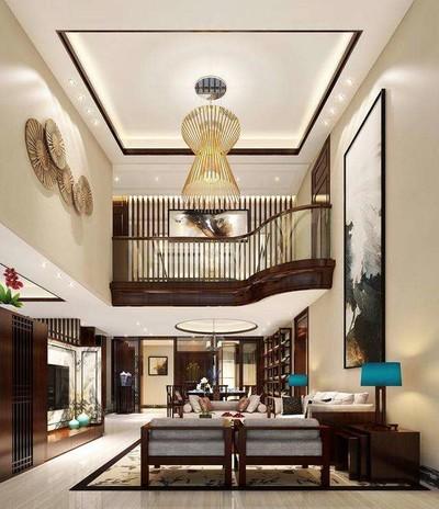 150平米中式现代简约别墅装修效果图