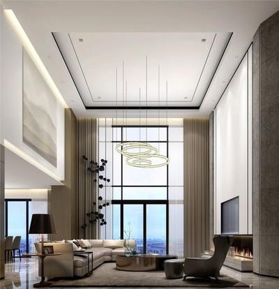 160平米中式现代简约别墅装修效果图