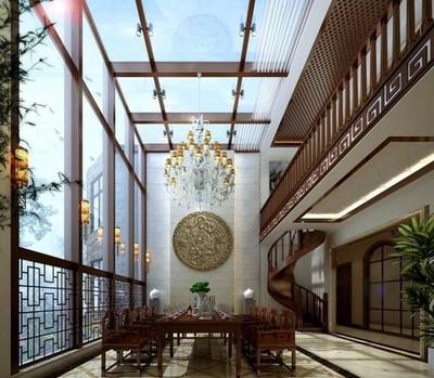 250平方中式现代简约别墅装修效果图