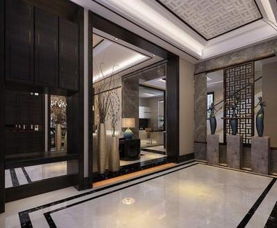 300平方中式现代简约别墅装修效果图