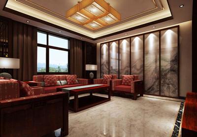 350平方中式现代简约别墅装修效果图