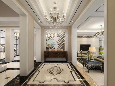 500平方中式现代简约别墅装修效果图