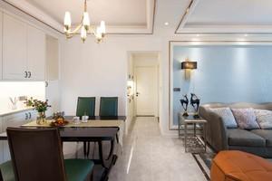 108平三居室簡約美式風格房屋過道裝修效果圖