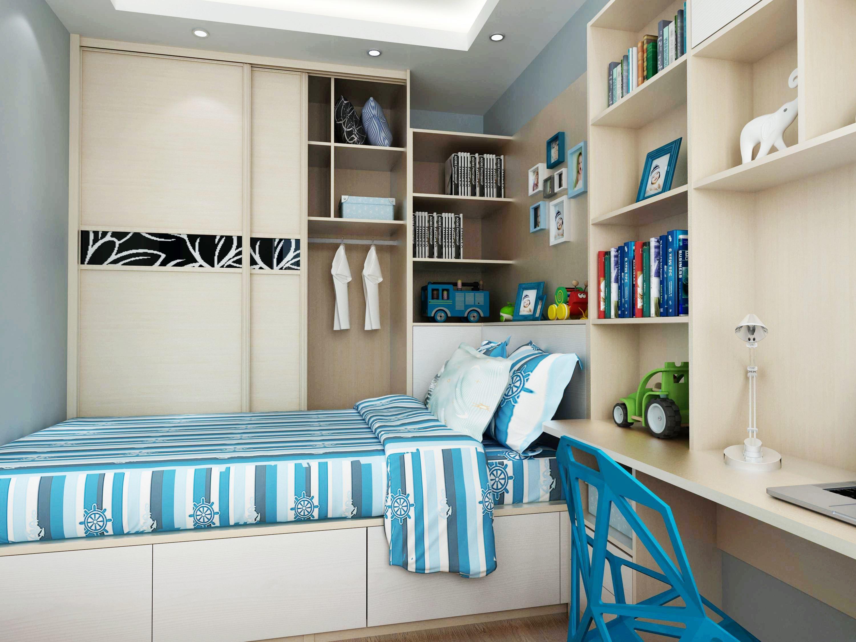 67平兩居室簡約風格10平小臥室榻榻米裝修效果圖