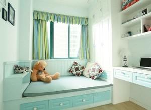 88平三居室美式卡通風格10平小臥室榻榻米裝修效果圖