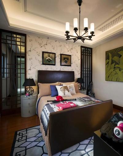 180平方新中式別墅公主臥室裝修效果圖