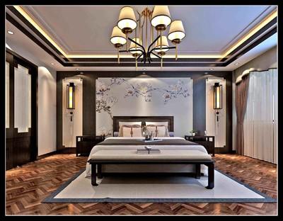 220平方新中式別墅公主臥室裝修效果圖