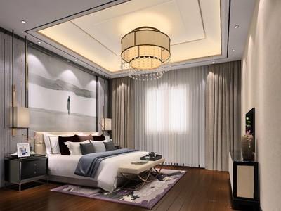 240平方新中式別墅公主臥室裝修效果圖