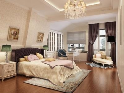 250平方新中式別墅公主臥室裝修效果圖
