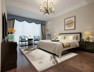 260平方新中式別墅公主臥室裝修效果圖