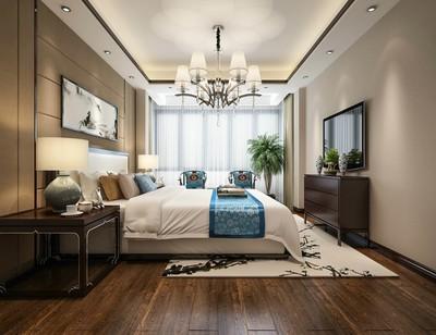270平方新中式別墅公主臥室裝修效果圖