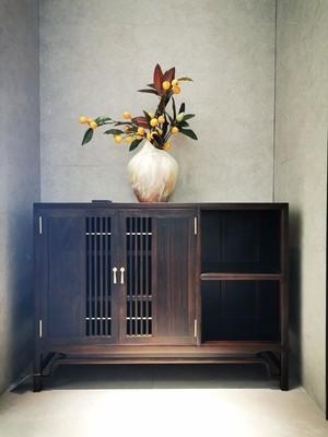 220平米新中式別墅進門鞋柜裝修效果圖