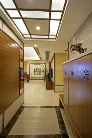 250平米新中式別墅進門鞋柜裝修效果圖