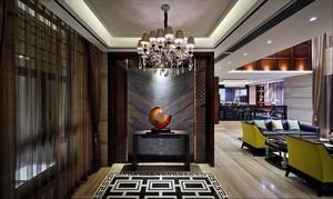 250平方新中式别墅进门玄关装修效果图