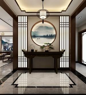 180平方新中式别墅客厅玄关装修效果图
