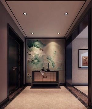 190平方新中式别墅客厅玄关装修效果图