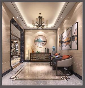 220平方新中式别墅客厅玄关装修效果图