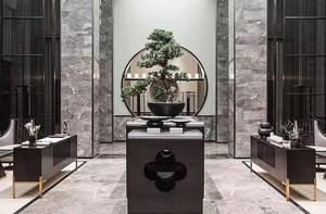 250平方新中式别墅客厅玄关装修效果图