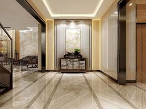 270平方新中式别墅客厅玄关装修效果图