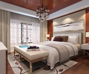 120平方別墅新中式臥室櫥柜裝修效果圖