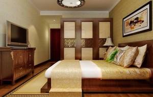150平米別墅新中式臥室櫥柜裝修效果圖