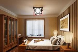 300平方別墅新中式臥室櫥柜裝修效果圖