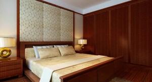 350平方別墅新中式臥室櫥柜裝修效果圖