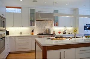 130平米新中式別墅開放式廚房裝修效果圖