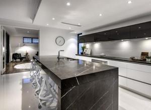 235平米房子新中式別墅開放式廚房裝修效果圖