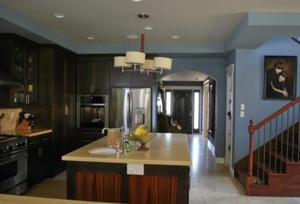 135平米公寓新中式別墅開放式廚房裝修效果圖