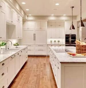 25萬元以內農村新中式別墅開放式廚房裝修效果圖