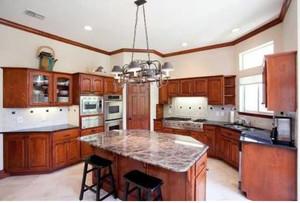 140平米新中式別墅開放式廚房裝修效果圖