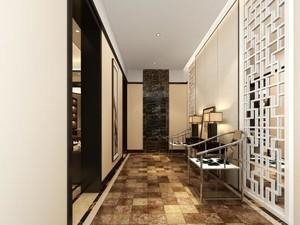 250平方别墅新中式玄关进门装修效果图
