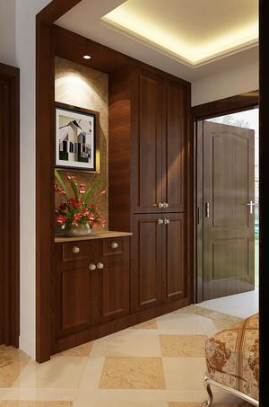 500平方别墅新中式玄关进门装修效果图