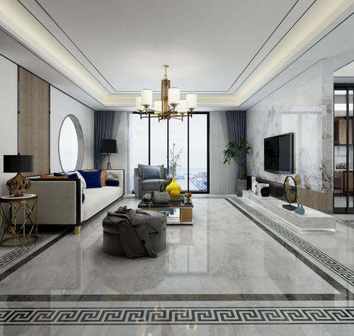 400平方别墅新中式中空客厅装修效果图