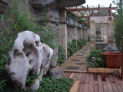 别墅庭院现代简约新中式效果图