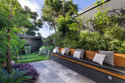别墅庭院现代简约新中式装修效果图