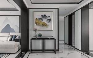 180平米別墅新中式玄關背景墻裝修效果圖