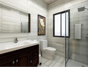 120平米房子別墅新中式主臥洗手間裝修效果圖