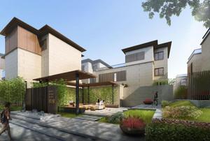 200平房子二層新中式四合院別墅裝修效果圖