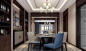 230平方房子新中式別墅餐廳背景墻裝修效果圖